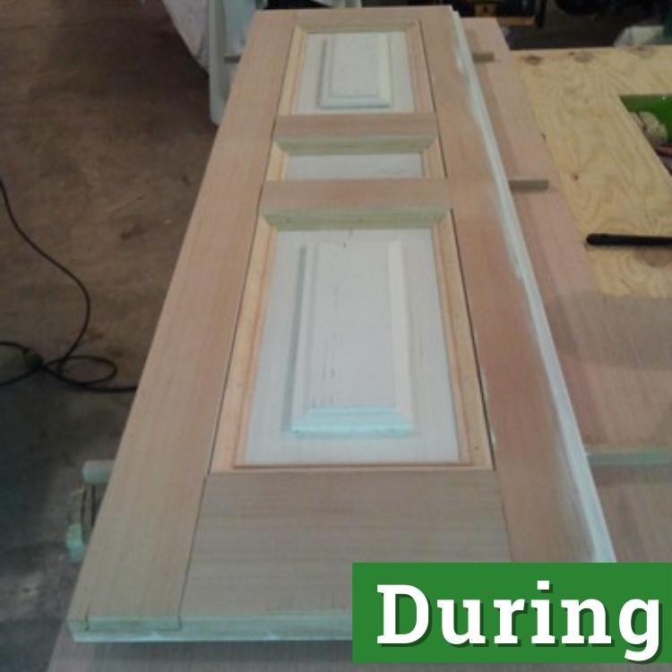 a single shutter under restoration
