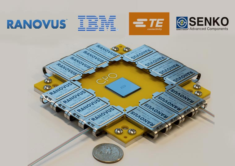 Ranovus announces a strategic collaboration with IBM, TE Connectivity and Senko Advanced Components for design and delivery of multi-vendor Co-Packaged Optics solutions for Data Centers