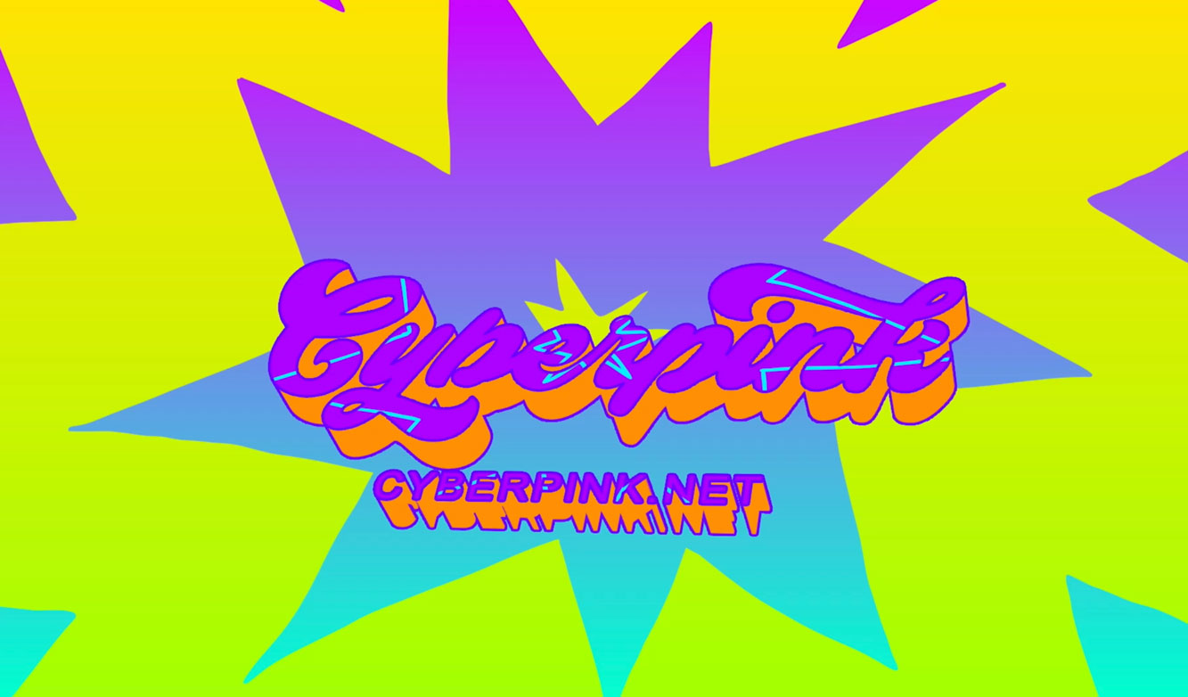 Cyberpink logo video trailer concept still