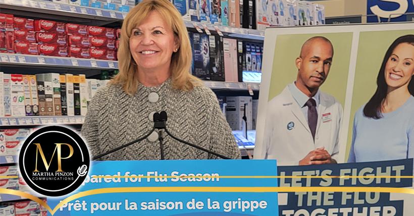 Vacuna antigripal gratuita disponible para todos los habitantes de Ontario en noviembre