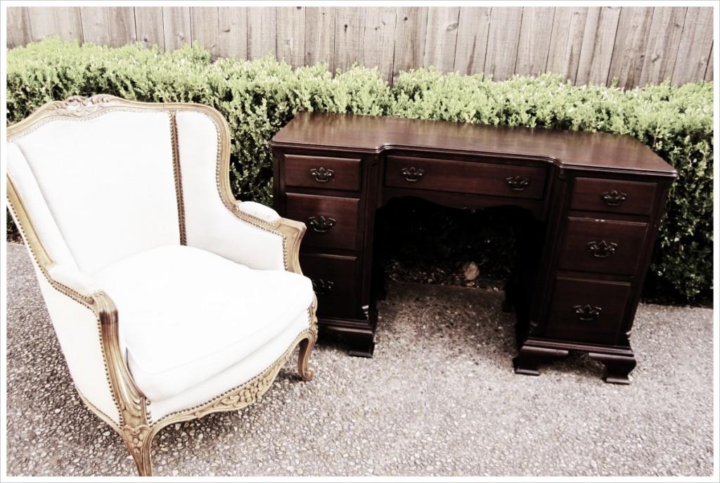 Finished antique desk
