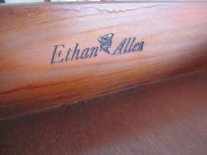 Ethan Allen Tag Inside Drawer