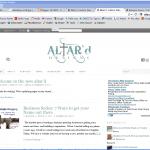New Altar'd Website
