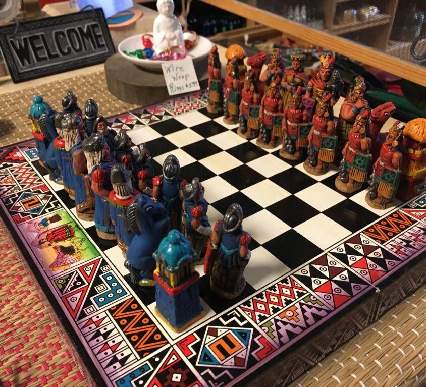 Chess Set @ Evergreen Natural Foods Market