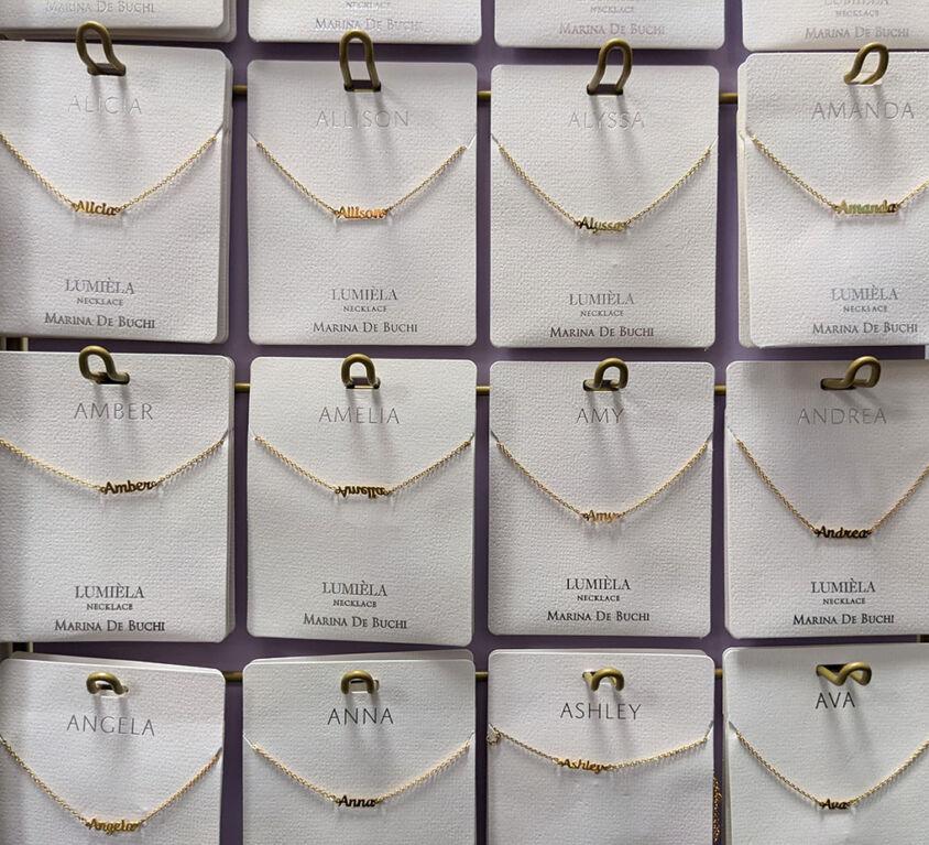 Name Necklaces @ Mariellen's Hallmark