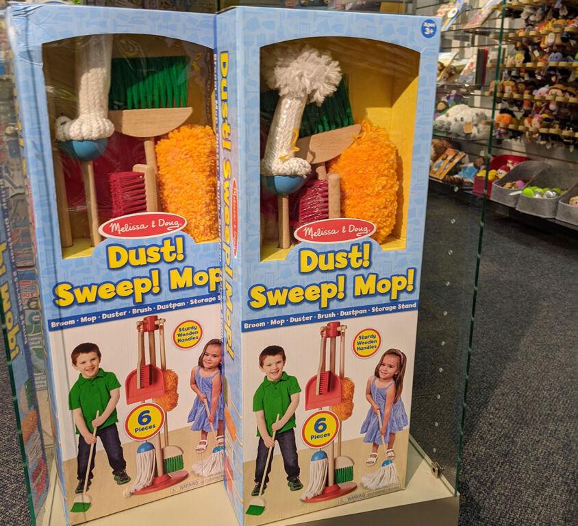 Toy Cleaning Kid @ Mariellen's Hallmark