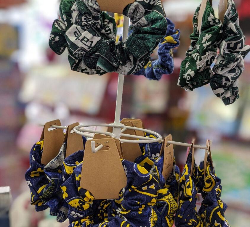 UofM & MSU Scrunchies @ Purple Monkey Children's Boutique