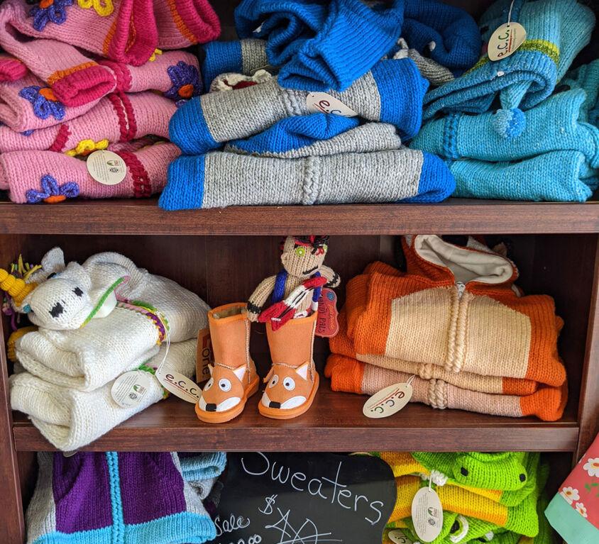Knit Hoodies @ Purple Monkey Children's Boutique