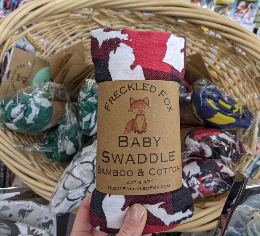 Michigan Baby Swaddles @ Purple Monkey Children's Boutique
