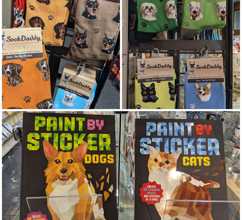 Socks & Sticker Books @ Mariellen's Hallmark