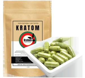 green malay kratom capsules