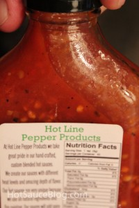 Hot Line Pepper Products Ghost Pepper Sauce Close Up