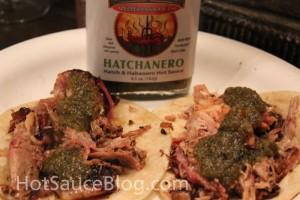 Hatchanero on Pulled Pork Tacos