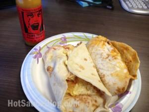 Tejas Tears Hot Sauce on Tacos