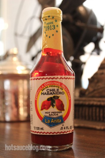 La Anita Chile Habanero Pepper Sauce Bottle