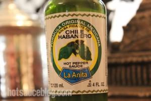 La Anita Green Chile Habanero Hot Sauce Label