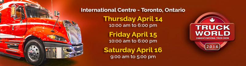TRUCK WORLD, TORONTO, ON APRIL 14-16, 2016