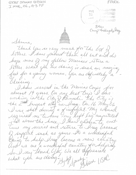 Letter From A Marine Corps Gunnery Sergeant