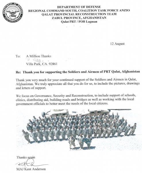 Letter From An Army Major