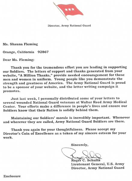 Letter From An Army Lieutenant General