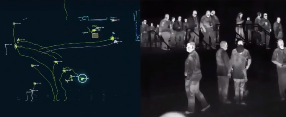LIDAR technology used with Surveillance Cameras