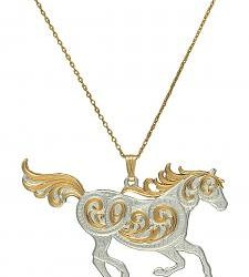 Montana Silversmith Galloping Horse Necklace