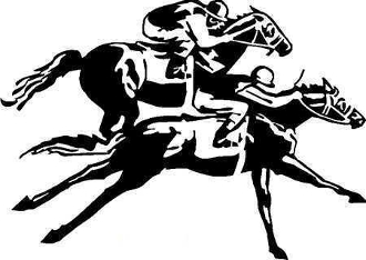 SIDE BY SIDE HORSERACING DECAL