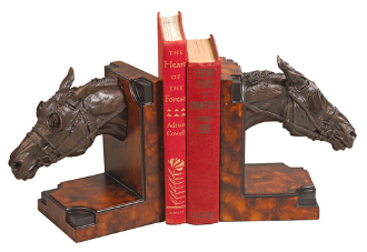 RACEHORSES BOOKENDS