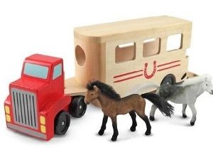 Horse Trailer and Horses