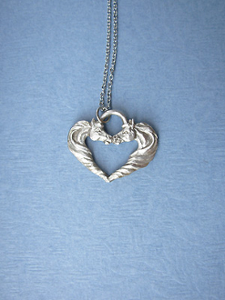 KISSING HORSEHEADS NECKLACE