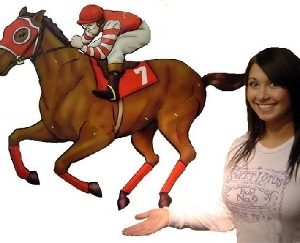HORSE RACING WALL DECOR