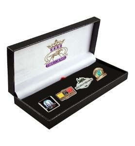 AMERICAN PHAROAH TRIPLE CROWN LAPEL SET