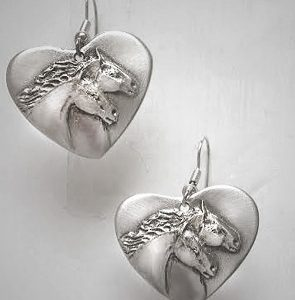 TWO HORSEHEAD EARRINGS
