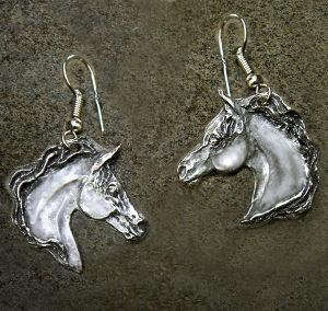 ARABIAN HORSE HEAD EARRINGS
