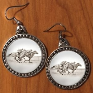 TWO RACEHORSES EARRINGS