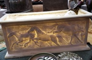 HORSES PLANTER OR WINE COOLER