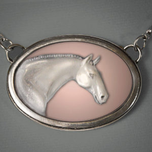 THOROUGHBRED CAMEO NECKLACE