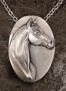 ARABIAN PEWTER NECKLACE