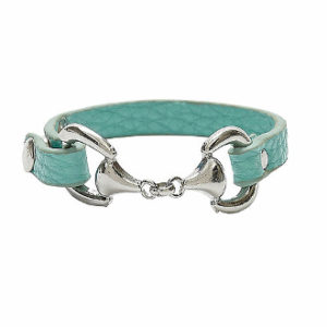 SNAFFLE BIT FAUX LEATHER BRACELET