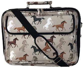HORSES LAPTOP MESSENGER BAG
