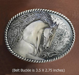 STALLION BELT BUCKLE