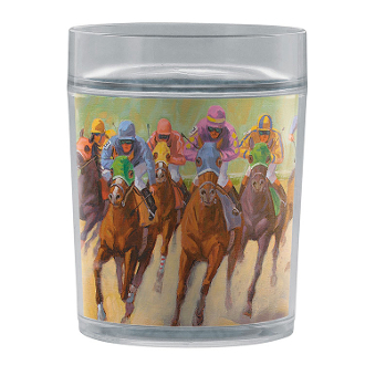 HOMESTRETCH HORSE RACING TUMBLER