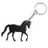 PRANCING HORSE KEYRING BLACK