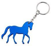 PRANCING HORSE KEYRING BLUE