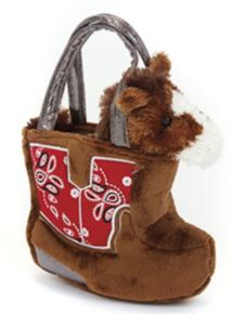 Cowboy Boot Plush Purse