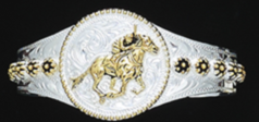 Two-Tone Horse Racing Bracelet