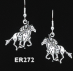 RACEHORSE JOCKEY EARRINGS