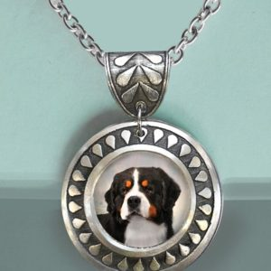 Bernese Round Teardrop Necklace
