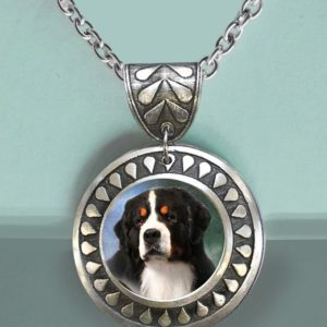 Bernese Round Teardrop Necklace2