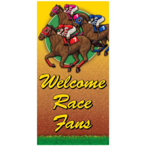 Racehorse Giant Door Poster